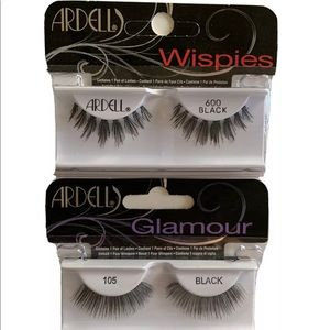 Ardell Eyelashes styles #600 Wispies & 105 Glamour